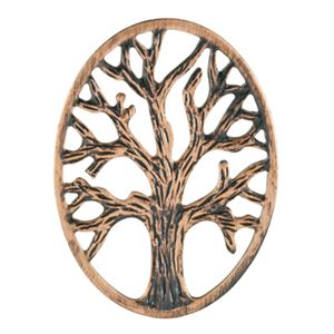 Picture of Rose Gold Tree Of Life Oval Screen